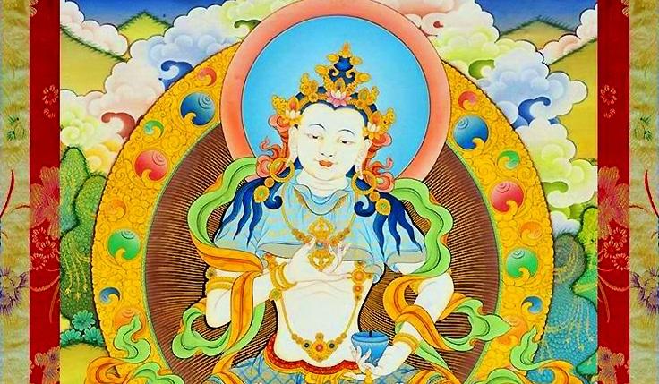 Les banderoles bouddhiques au plaine tibétain