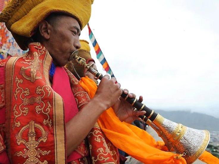 Cérémonie religieuse du Bouddhisme tibétain
