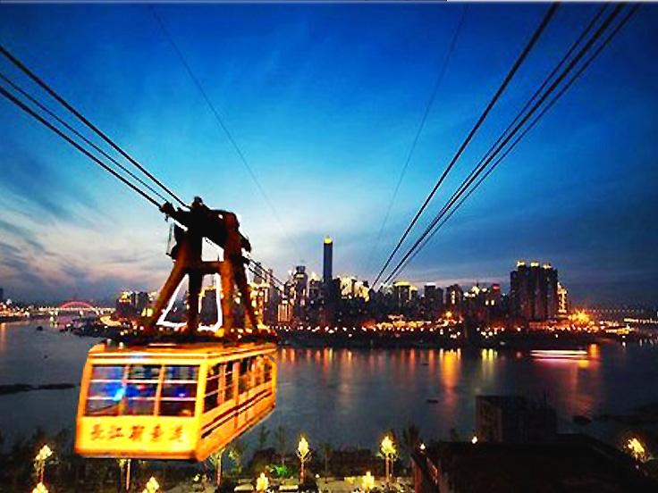 La télécabine sur le fleuve Yangtsé
