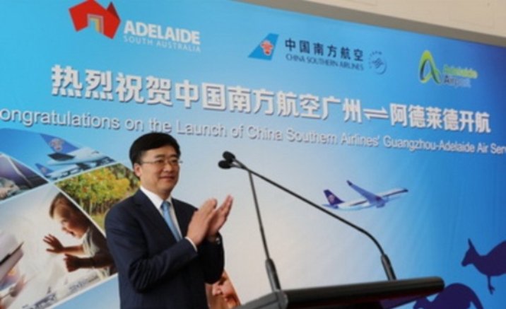Direct flight between Guangzhou and Adelaide launched