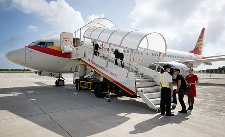 First regular civil flight between Sansha and Haikou launched