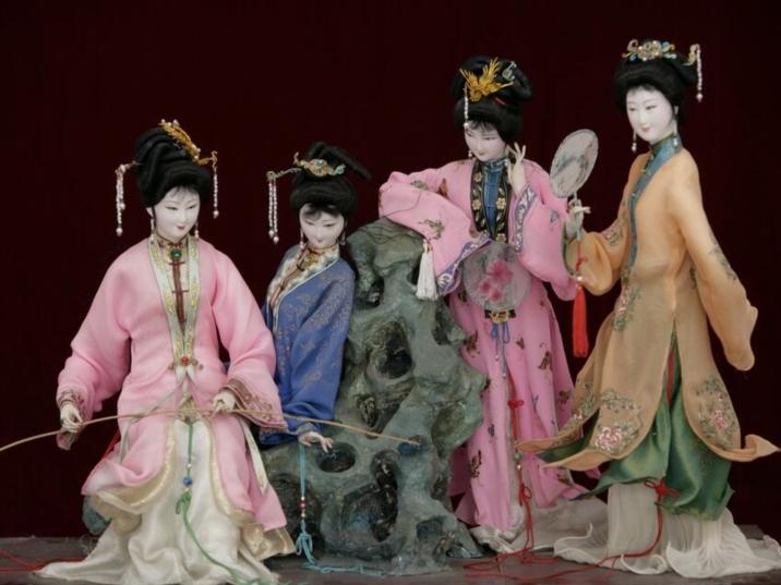Silk Figurines, Local Folk Artwork of Beijing