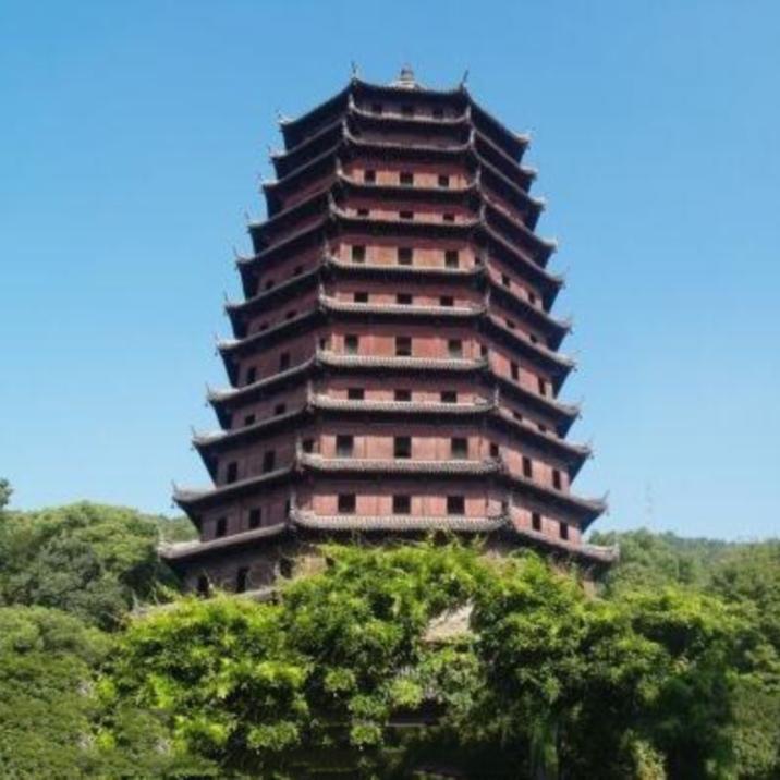 六和塔と銭塘江