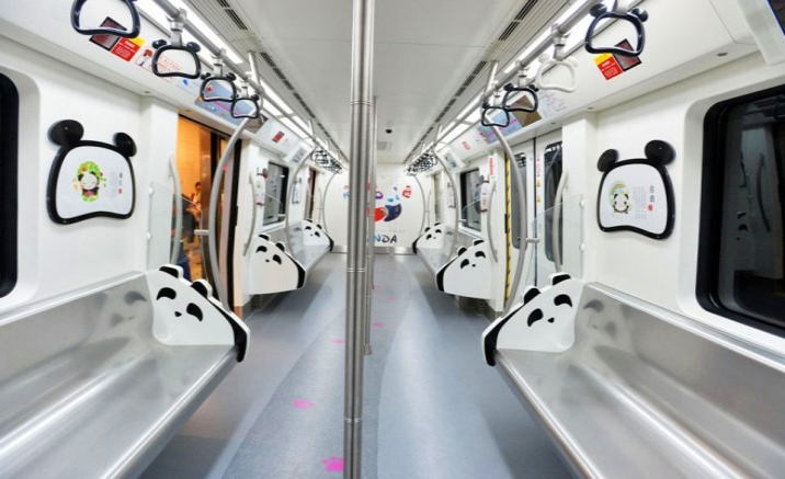 First panda-themed subway line operated in Chengdu