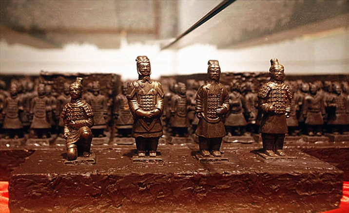 Chocolate Art Exhibition on Xi'an Cultural Symbols Opened