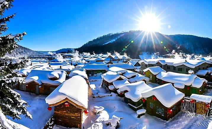 Le village de neige - un monde féérique du nore de la Chine