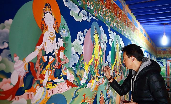 La future de thangkas du Tibet