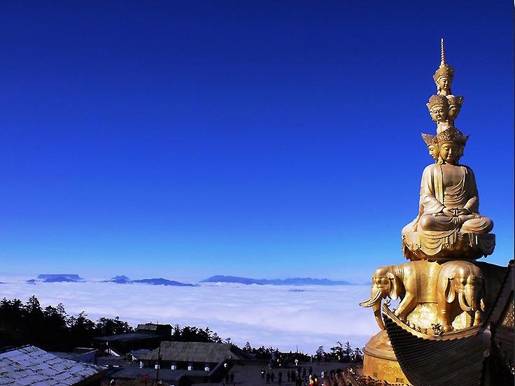 Mont Emei de la province du Sichuan