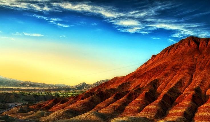 Des montagnes de relief Danxia