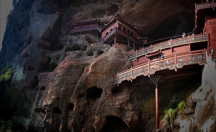 Temple Ganluyan: construit sur un seul pilier