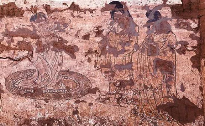 Earliest landscape mural in the Tang Dynasty excavated