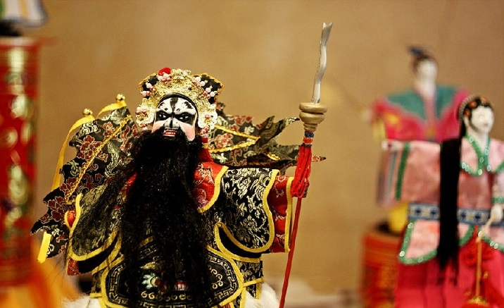 Puppets from Fujian Province showed at the National Museum of China