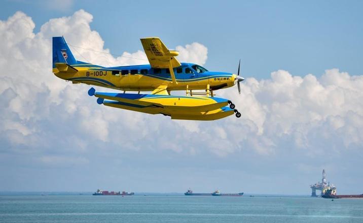 Haikou (province du Hainan), l'opération d'essai des routes aériennes d'hydravion