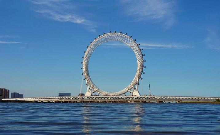 Bailang River Bridge Ferris Wheel, Weifang City
