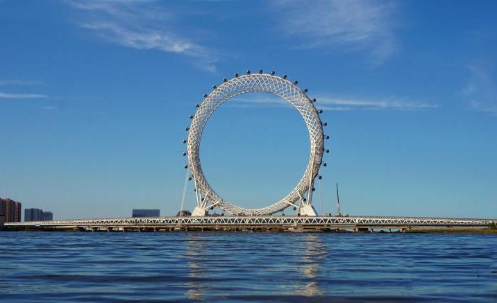 Bailang River Bridge Ferris Wheel,  Weifang City
