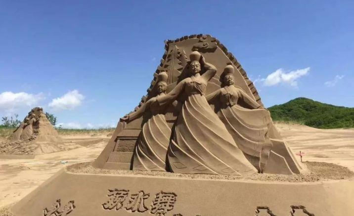 A sand sculpture park , Northeast China