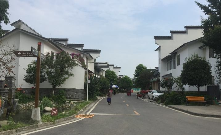 A commercial street opened in Chengdu village