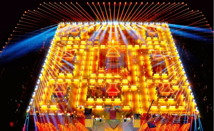 The annual Yellow River Light Array will be launched in Gansu