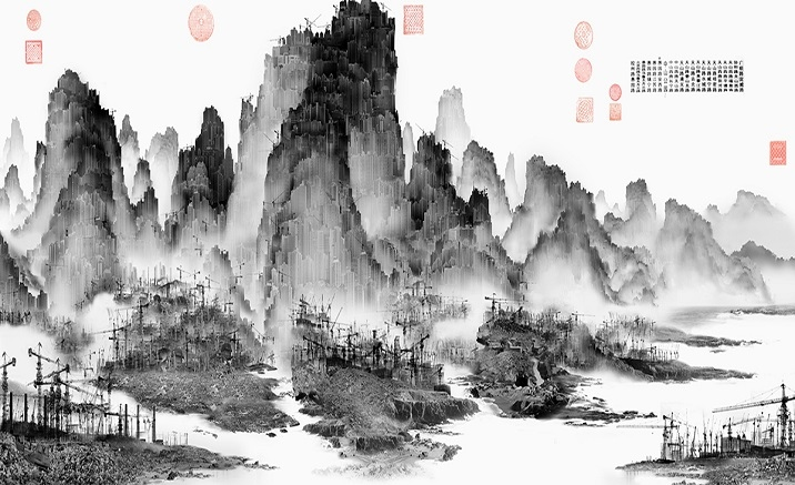 The traditional Chinese painting art exhibition opens in Chongqing