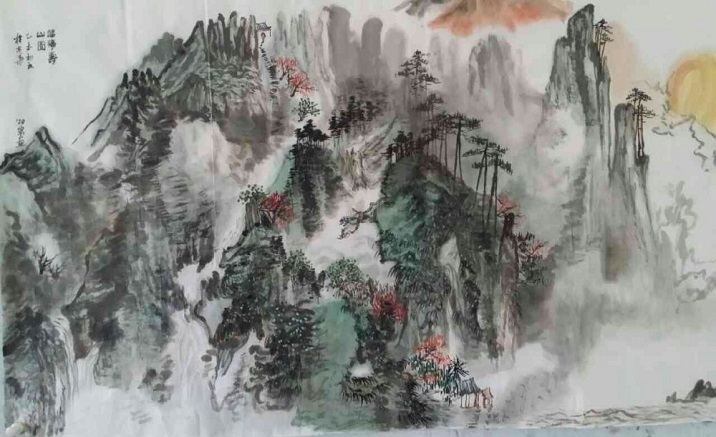 The art exhibition about watercolor and ink opens