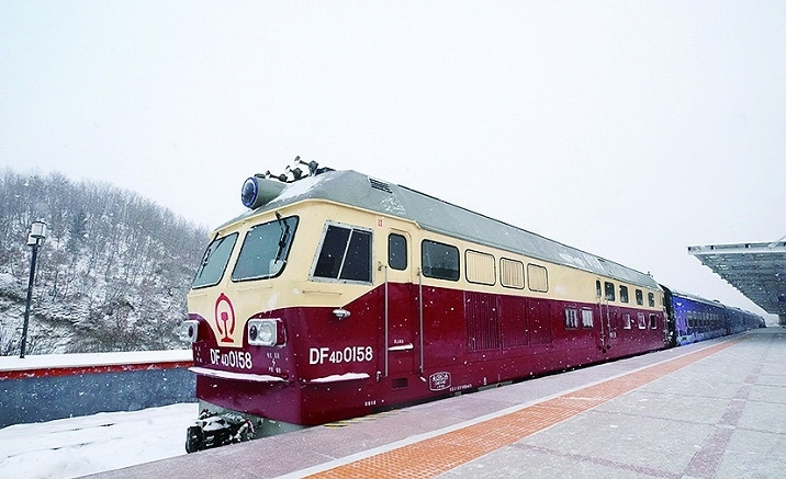 Heilongjiang Province opens its first snow-themed train