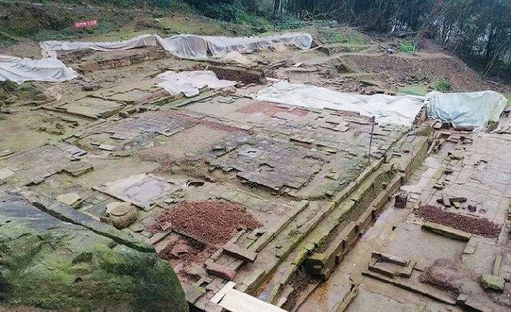 Cultural relics are discovered at Buddhist temple site in Chongqing