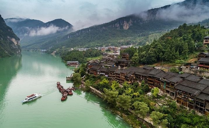 Gongtan Ancient Town holds the Folk Song Festival