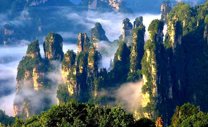 Le parc forestier national de Zhangjiajie