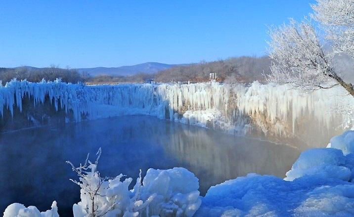 Zone panoramique nationale de Wudalianchi - en hiver