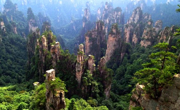 Paysage dramatique du karst de Zhangjiajie, province du Hunan