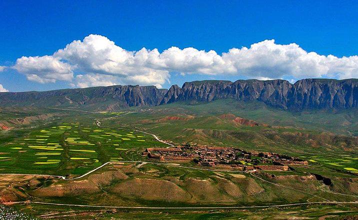 L'ancienne cité Bajiao le long de la Route de la Soie