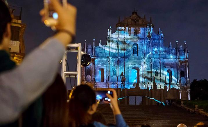 Festival de lumières pendant le mois de décembre 2017 à Macao