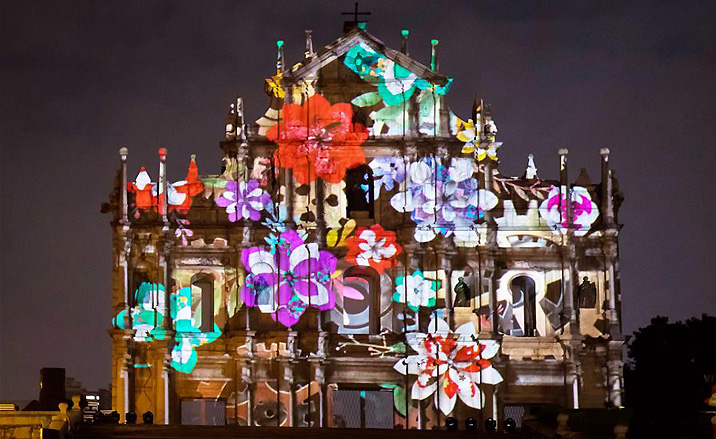 Festival de lumières pendant le mois de décembre 2017 à Macao -2