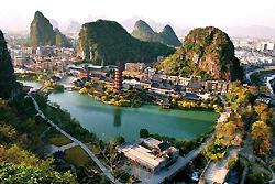 Dans la ville pittoresque de Guilin