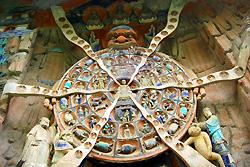 Sculptures religieuses de la colline Baoding
