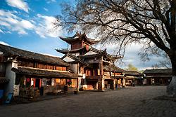 Scène de l'ancien théâtre du vieux village Shaxi