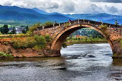 Rivière dehors du village Shaxi