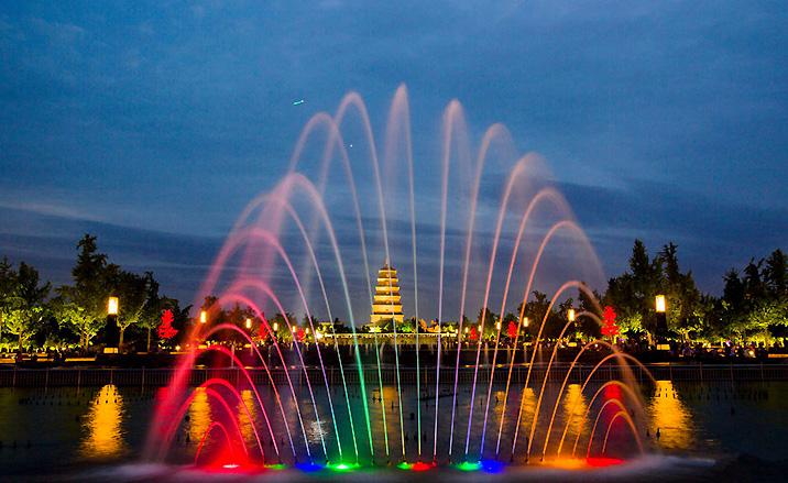 la fontaine musicale de la Grande pagode de l'Oie Sauvage