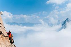 La passerelle céleste pour monter le mont Huashan -2