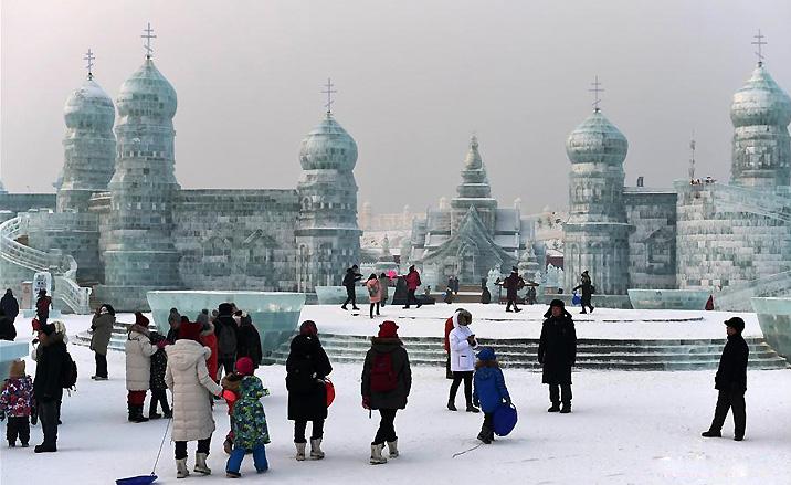 Festival des glace à Harbin, province du Heilongjiang