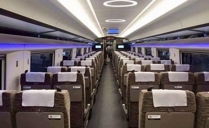 L'intérieure du train à grande vitesse Fuxing